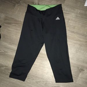 grey adidas capri leggings